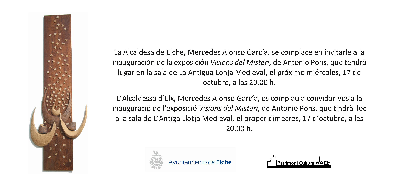 Invitación a la exposición Visions del Misteri