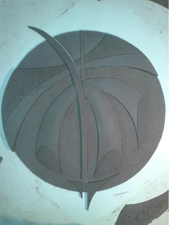 Finalizado el modelado de la pieza de gres CH