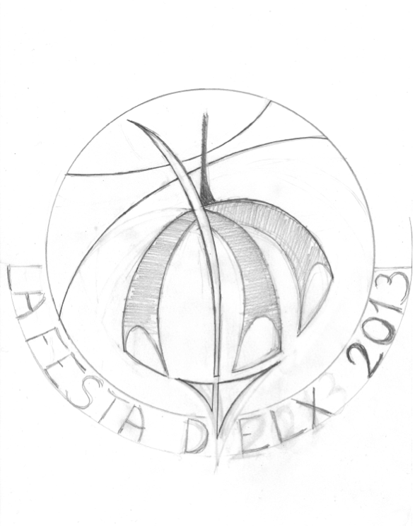 Boceto inicial de la obra