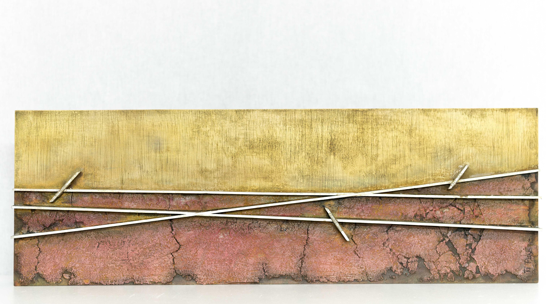 Técnica mixta sobre tabla (25 x 75 x 6 cm.)